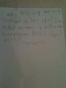 My 9 year old is so resourceful. A true problem solver.