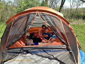 3rd grade mother/son overnight camping trip